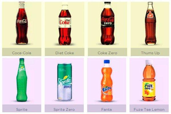 Coca-cola product range फैटां