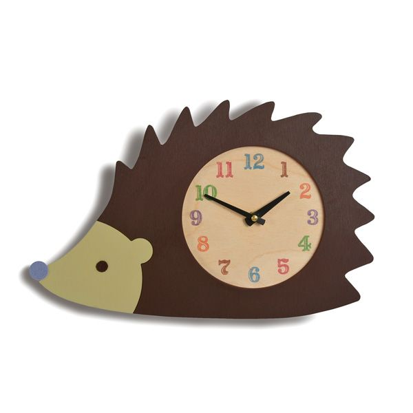 We're suckers for anything hedgehog. Adorable handmade wooden clock.