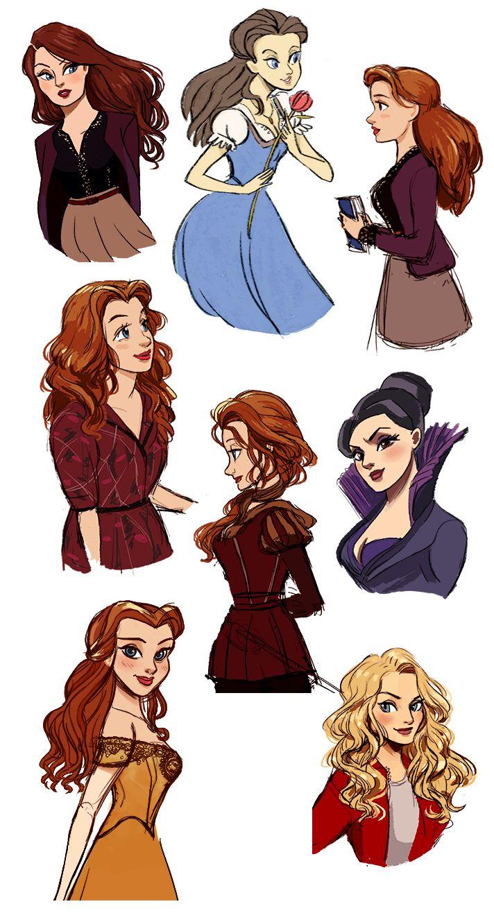 OUAT ladies by Vestergaard.deviantart.com on @DeviantArt Belle Belle Belle Belle Belle Belle Emma and Regina