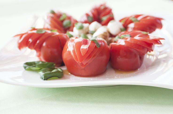 The arrange of tomatoes