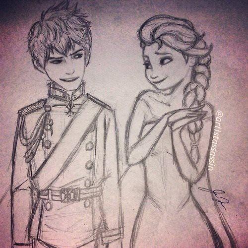 Frozen/RotG - Elsa/Jack