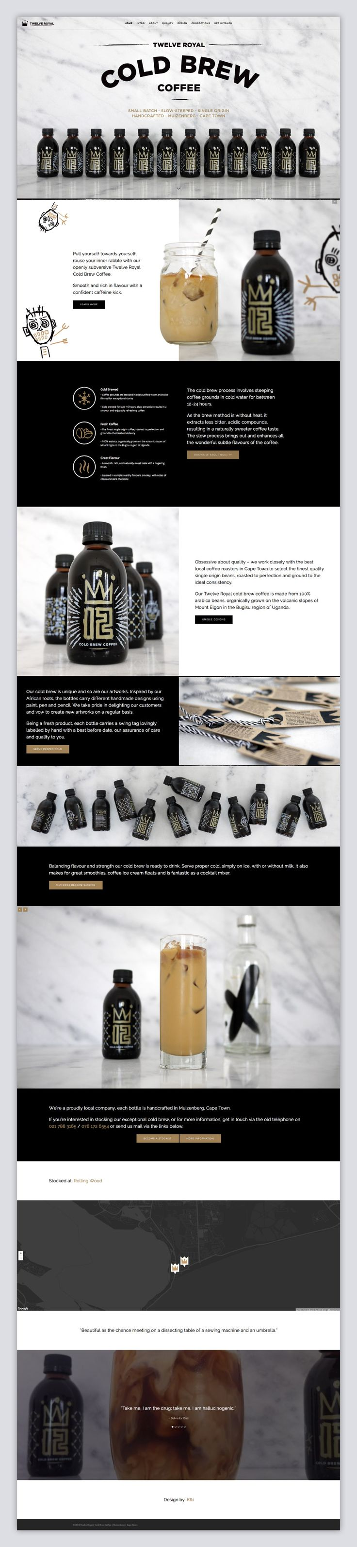 Twelve Royal Cold Brew Coffee identity, packaging and website   K&i