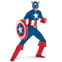 disguiseCaptainAmerica/CaptainAmericaClassicAdultキャプテンアメリカ【映画・ハロウィン仮装衣装・コスプレコスチューム(子供/キッズ/大人用)・キャプテンアメリカ/C.America】【映画・ハロウィン仮装衣