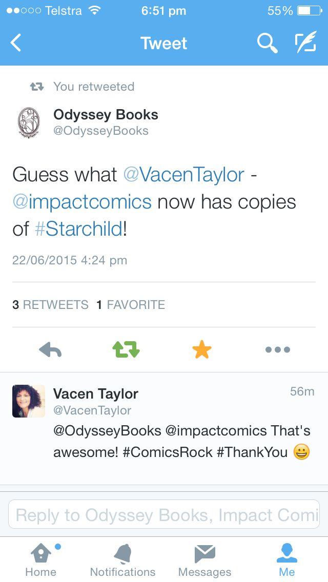 Thank you to Impact Comics. They have copies of Starchild! http://impactcomics.com.au/cbr/