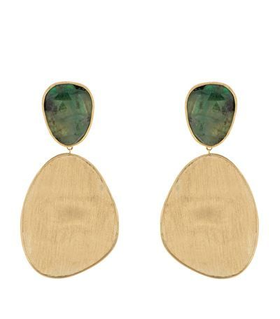 Made with Love Exclusive Marco Bicego Unico Emerald Earrings l Harrods