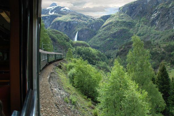 Treinreizen in Noorwegen. Foto Mevrouw Schoote