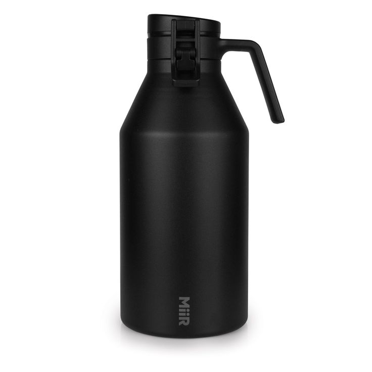 64 oz. of serious temperature blocking, carbonation saving, leak proof insulated stainless steel. Your drinks will thank you.