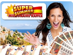 The clock is ticking on your chance to win your share of € 140 Million on the Spanish Super Summer Draw. This Millionaire Raffle will be drawn on July 7th and there are 10 jackpot prizes of €2 Million up for grabs, all guaranteed to be won on the night. The draw offers a 1-in-3 chance of winning a cash prize – the best odds in the world!    Check it out here  http://j.mp/KvVxRk