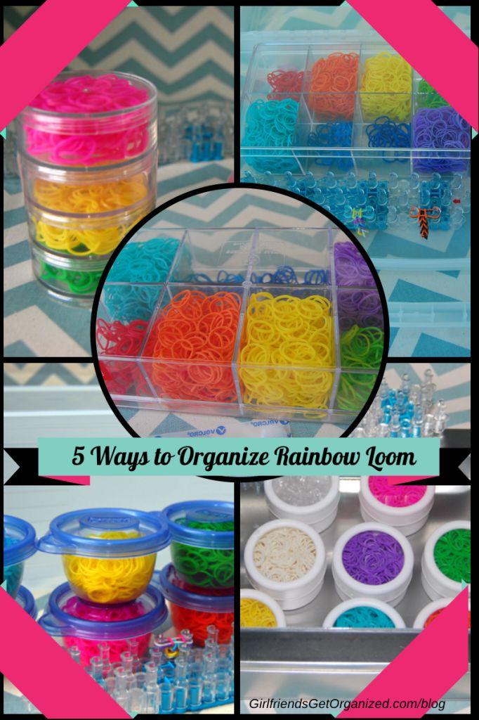 5 Ways to Organize Rainbow Loom bands