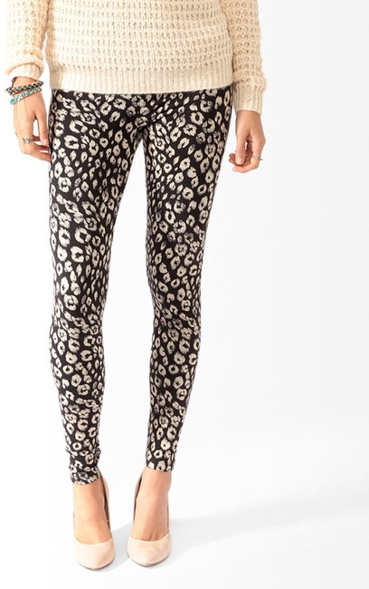 Forever 21 Animal Print Leggings