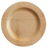 Disposable, sustainable bamboo plates. No dishes to be done!