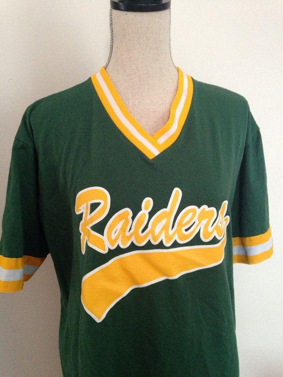 Vintage Raiders 12 Baseball Softball Jersey By 21vintage On Etsy Softball Jerseys Baseball Softball Softball