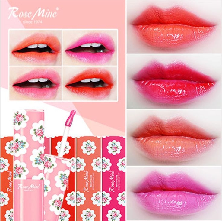 Rose Mine Rosy Pudding Lip Tint Long Lasting Clear 5 Color #RoseMine