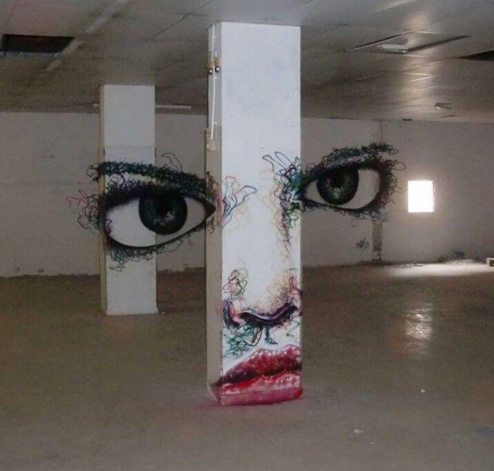 Street Art by Ramzee, located in Barcelona, Spain