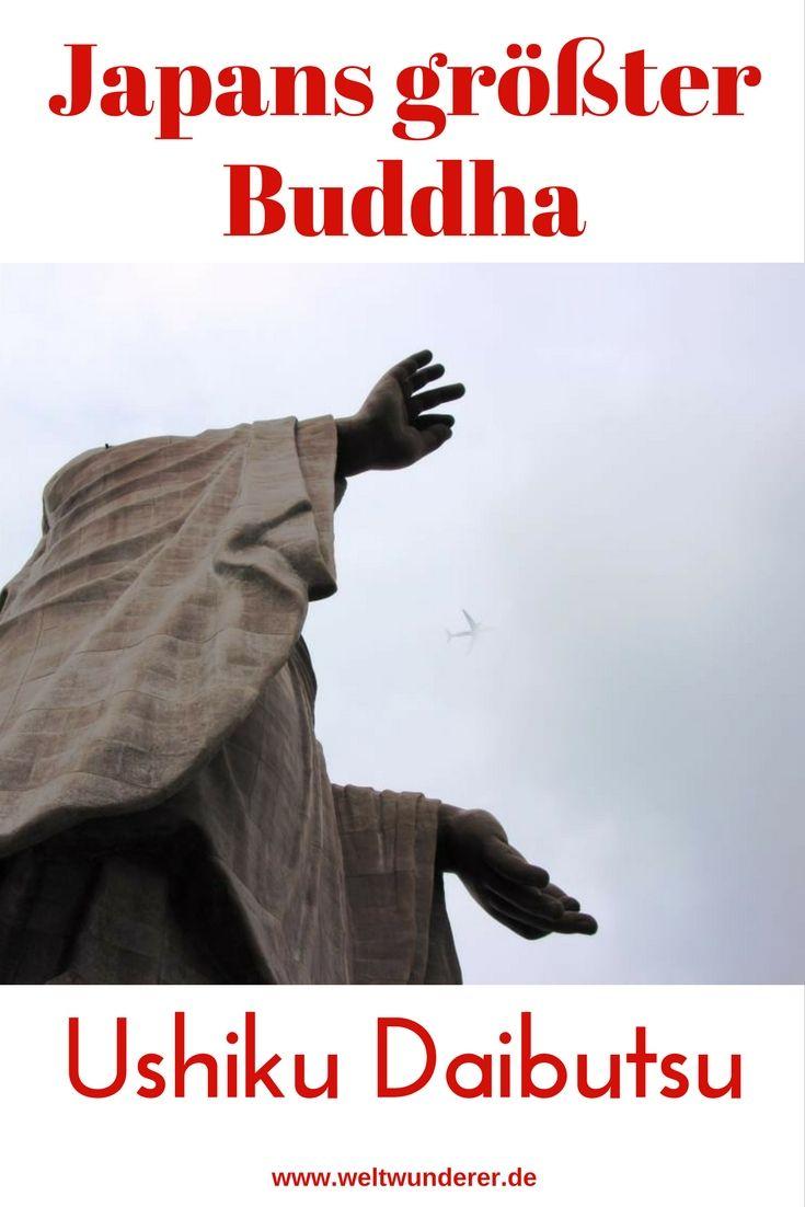 Seit 2002 ist er zwar nicht mehr der größte Buddha der Welt. Aber mit seinen 120 Metern ragt der Ushiku Daibutsu nahe Tokio doch sehr eindrucksvoll aus der Landschaft. Wir haben ihm einen Besuch abgestattet. #Japan #Tokyo #Buddha #Daibutsu