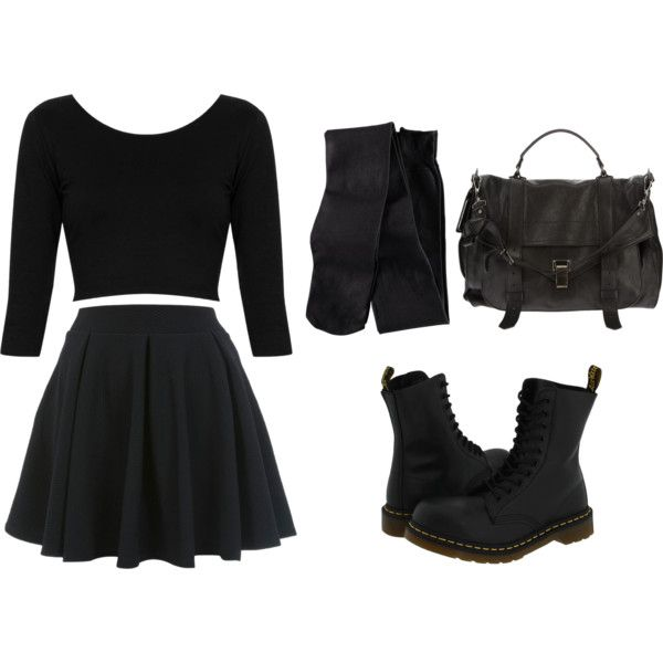 """""""Nu Goth"""" by sombrepasteland on Polyvore"""
