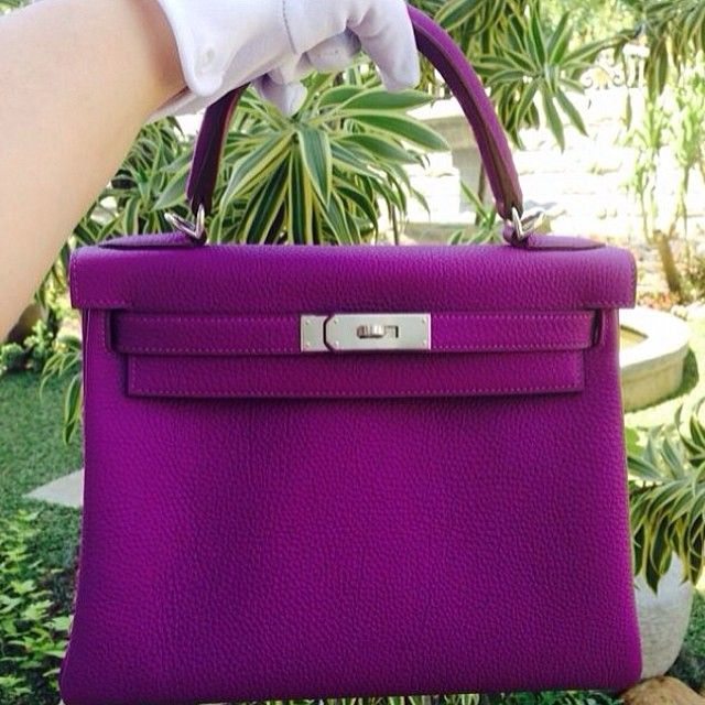 Kelly 28 Anemone Togo PHW.... | Hermes bags | Pinterest | Anemones