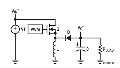 Linear Technology switching inverting voltage regulator