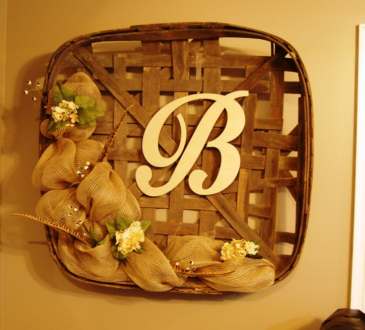 17 best ideas about tobacco basket decor on pinterest - Decorating ideas for baskets ...