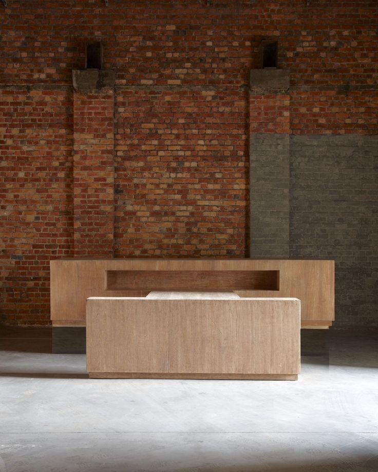 Le Corbusier (1887-1965) The Judge's Desk Indian teak-plywood, Chandigarh, India 1954 H 74 cm x W 322 cm x D 138 cm