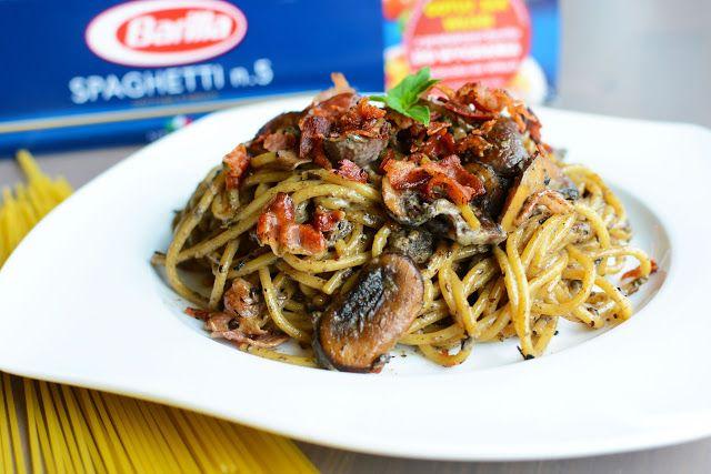Jazzowe Smaki: Spaghetti z pudrem z prawdziwków i chrupiącą pance...