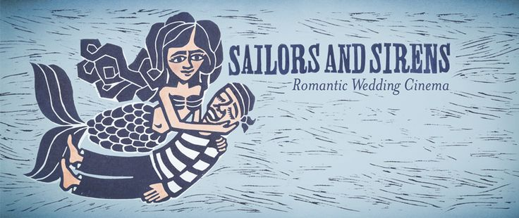 Sailors and Sirens Romantic Wedding Cinema  | © by Elisa Fior | Illustration created for Daniele Padovan - Photographer