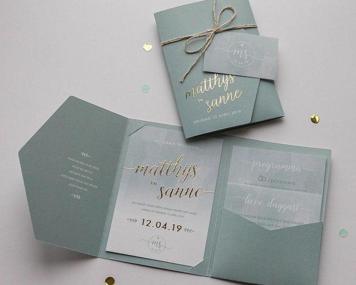 MARJOLEIN-VORMGEVING-1000x800px-trouwkaart-Matthijs&Sanne #weddinginvitations