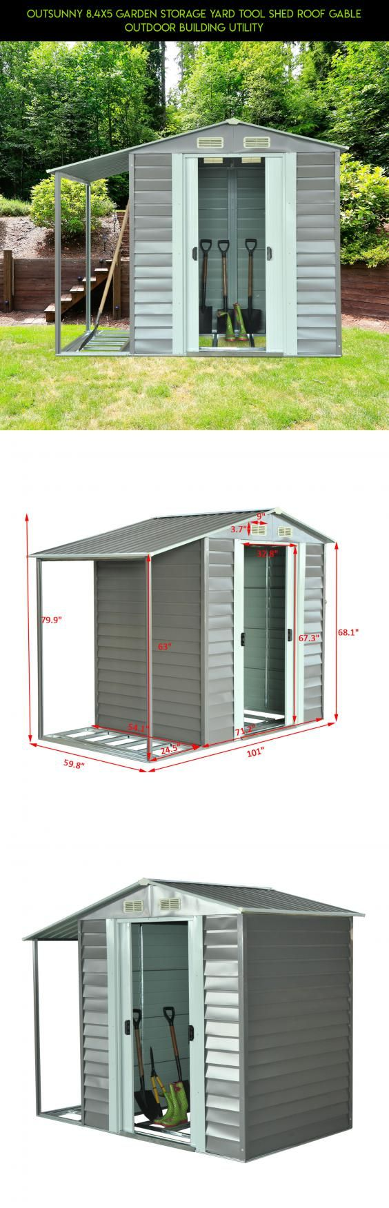 Outsunny 8.4x5 Garden Storage Yard Tool Shed Roof Gable Outdoor Building Utility #a #storage #technology #shed #plans #kit #shopping #products #camera #tech #fpv #drone #racing #parts #gadgets
