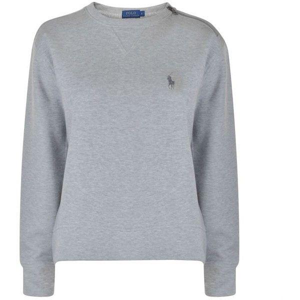 Polo Ralph Lauren Crew Logo Sweatshirt (£99) ❤ liked on Polyvore featuring tops, hoodies, sweatshirts, andover heather, crew top, polo ralph lauren, crew neck sweatshirts, logo sweatshirts and crew-neck sweatshirts