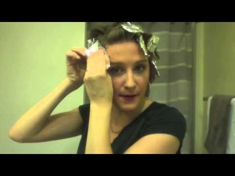 Crazy way to curl your hair - YouTube