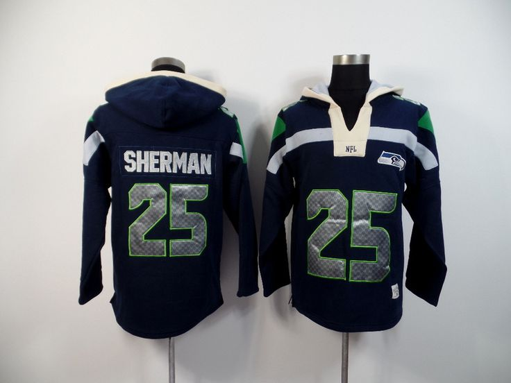 Men's Nike NFL Seattle Seahawks #25 Richard Sherman 2015 New Navy Hoodie http://www.wholesalejerseyclearance.com/nfl-seattle-seahawks_gc161_1_15.html