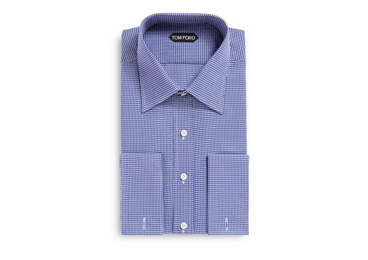 CLASSIC FIT CLASSIC COLLAR FRENCH CUFF SHIRT | Shop Tom Ford Online Store