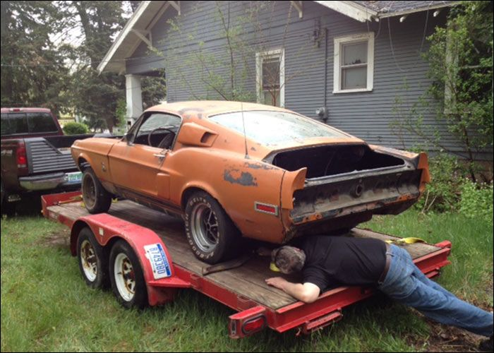 1968 Shelby Mustang Gt500 Abandoned Cars Muscles Rust