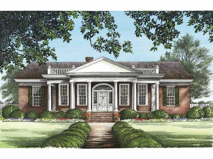 Best 25 greek revival home ideas on pinterest greek for Eplans mansions