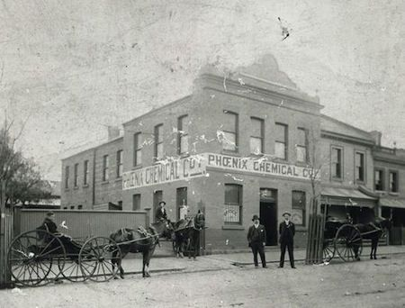 Fitzroy history – a chemical factory on Napier St Fitzroy Melbourne Australia 27 June 2011 In 1895 the Phoenix Chemical Company was established on Napier St. I am not sure what function the building now serves, perhaps residential, but it is nestled in the Fitzroy Primary School precinct. Courtesy the Fitzroy local history collection photographer: unknown image is in the public domain / c1895 (comments courtesy blogger)