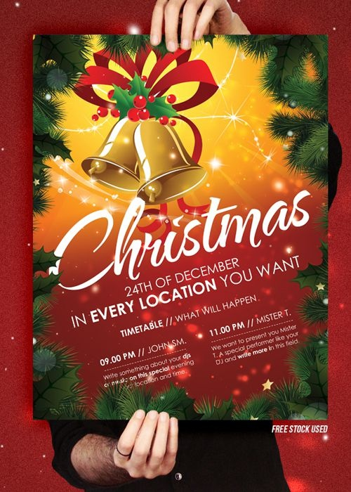 Best Xmas Images On   Flyers Flyer Template And