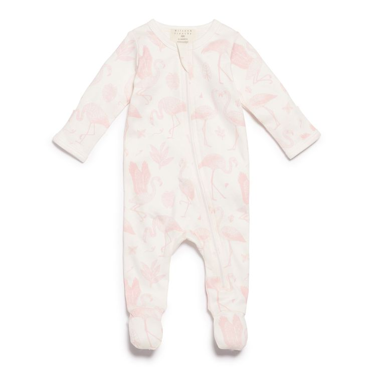 Flamingo Zipsuit with feet, to keep bubs little toes and feet warm. With easy front zip opening to change bubs on the go.   #wilsonandfrenchy #babystyle #babygirl #allinones #zipsuit #hospitalbag #babyprep #baby #fashion #unisex #babylove #perfectbabies  #unisexbabyclothes  #newmum #babygift #babyshower #australiandesign #shopbaby #mumsunite #babylove #magicofchildhood #little