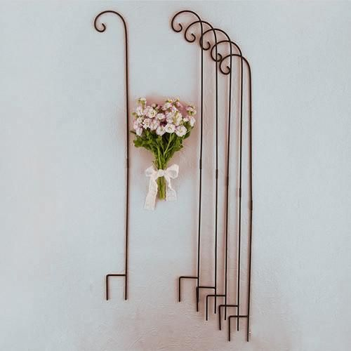 Black or White Metal Shepard Decorative Hook (Pack of 6) – Candy Cake Weddings
