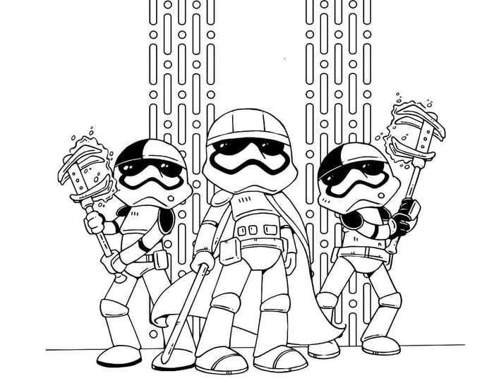 Star Wars The Last Jedi Storm Troopers Coloring Page Star Wars Colors Coloring Pages Cartoon Coloring Pages