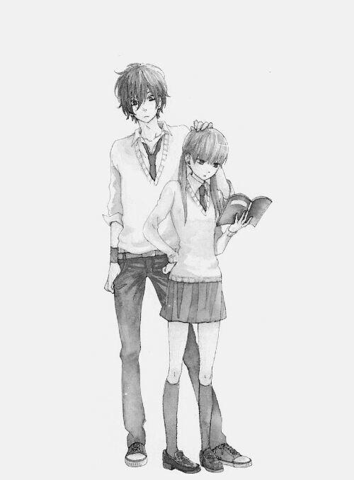 Haru and Shizuku | Tonari no Kaibutsu-kun #anime #bookworm