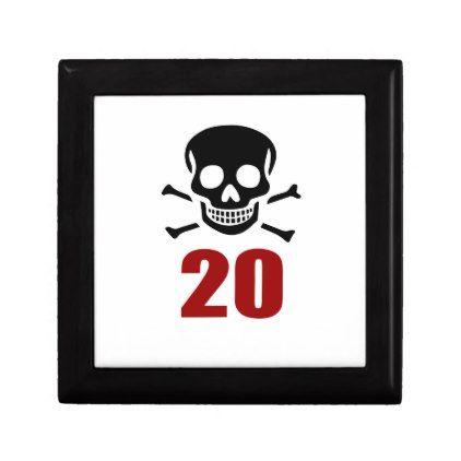 #20 Birthday Designs Jewelry Box - #giftidea #gift #present #idea #number #twenty #twentieth #bday #birthday #20thbirthday #party #anniversary #20th