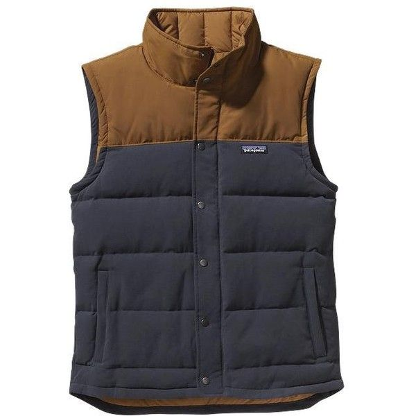 Patagonia Men's Bivy Down Vest ❤ liked on Polyvore featuring mens, men's clothing, men's outerwear and men's vests