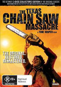 ORDER DVD What can I say, The Texas Chain Saw Massacre is a bona fide genre classic, one of the most well-known horror movies EVER. A film that after 33 years still manages to give off that grim fe...