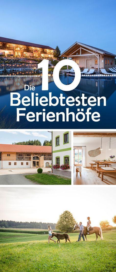 Die Beliebtesten Ferienhöfe 2017 sind gewählt - entdecke jetzt die schönsten ländlichen Rückzugsorte in ganz Deutschland! #Ferienhöfe #Deutschland #Reisen #Familie #Kinder #Eltern #Tiere #Bauernhof #Reiten #Luxus #Wohnen