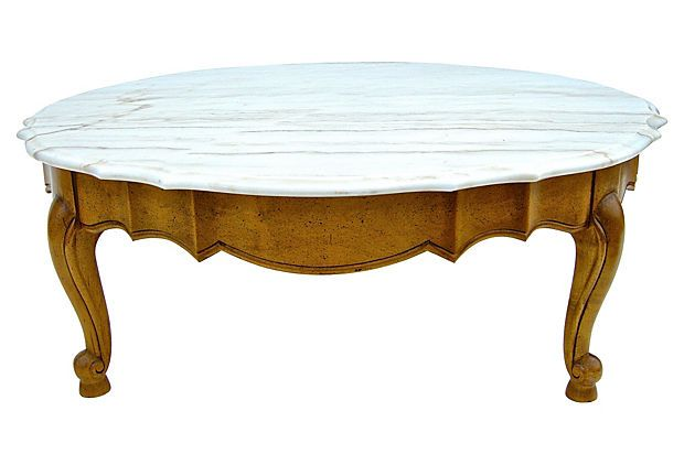 French-Style Marble Top Coffee Table on OneKingsLane.com
