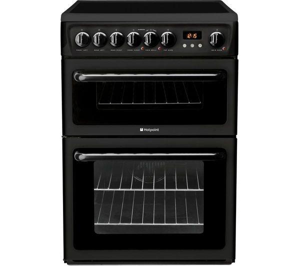 HOTPOINT HAE60KS Electric Ceramic Cooker - Black