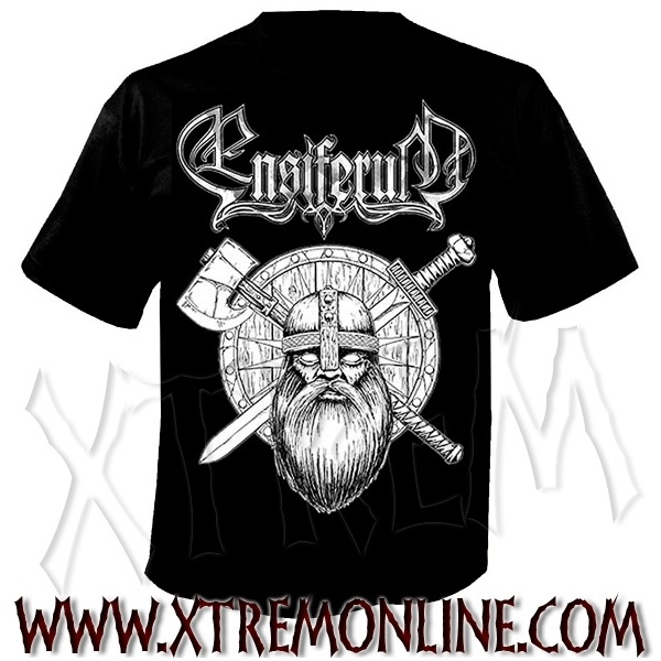 Camiseta de manga corta de Ensiferum - Sword and Axe. Merchandising oficial de grupos heavy metal. Folk metal. Viking metal. ¡Visitanos!