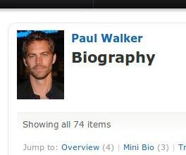 paul walker bio