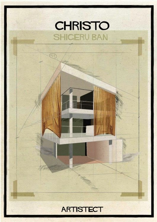 ARTISTECT: Famous Paintings With An Architectural Twist Christo - Shigeru Ban