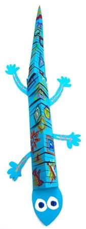 Animal crafts: Paper Lizard craft. Great fine motor practice for scissor snipping too! visit http://stitchme.gifts for more